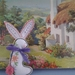 Cotton Tail Bunny... from Vintage Linens