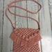 Pink Macrame Bag