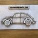 VW Beetle Laser Cut Artwork
