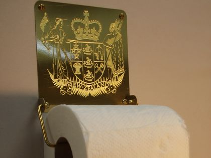 NZ Coat of Arms Toilet Roll Holder