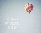 "she was a daydreamer at heart - 8x10"" nursery or childs room decor - whimsical and inspirational hot air balloon photo"