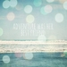 Adventure was her best friend - teal summer beach typography photograph with bokeh