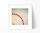 She Loved Adventure - 8x8 ferrish wheel photograph with whimsical typography