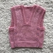 Hand Knitted Baby Vest