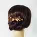 Bronze flower comb
