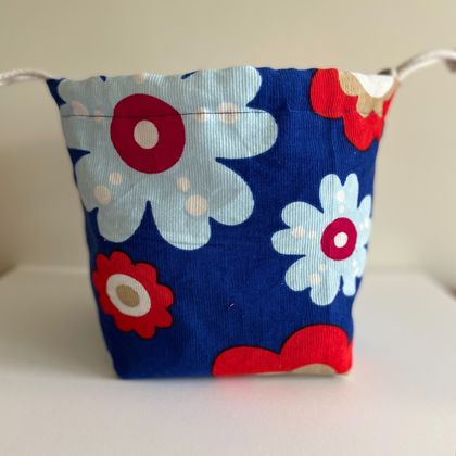 Project Bag - Blue Daisy Print