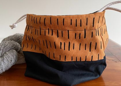 Project Bag - Copper Black Print