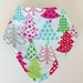 Bandana Bib - Colourful Christmas trees