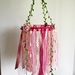 Boho Tulle Chandelier In Pink/Peach Colour Palette.