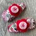 Floral Fabric & Felt Hair Clip - Set of 2