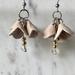 Genuine Leather Flower Earrings
