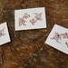 3 hand-printed Goldfish cards