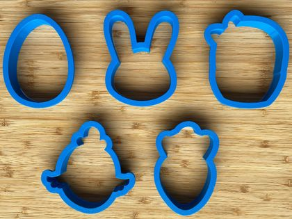 Easter Cookie Cutter Set 1 - 3.5 inch