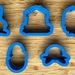 Easter Cookie Cutter Set 2 - 2 inch