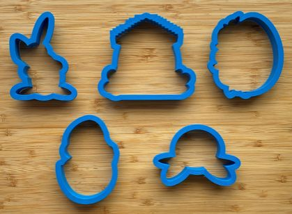 Easter Cookie Cutter Set 2 - 3.5 inch