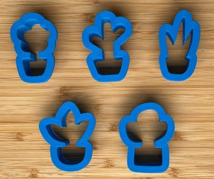 Pot Plant Cookie Cutters - 2inch