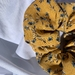 Up-cycled Yellow Floral Scrunchies