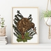 Kiwi Bird the famous bird from New Zealand Art Print.