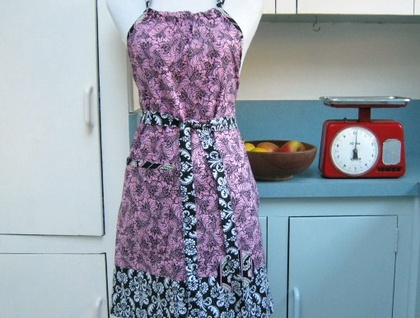 Full Apron -Tickle Me Pink