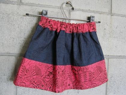 Girls Indigo Skirt - Pretty Pink