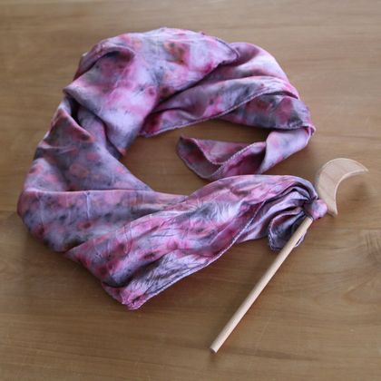 Naturally Dyed Play Silk with Wand - Blossom Dreams