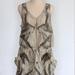 Eco-Printed Silk Dress size S/M