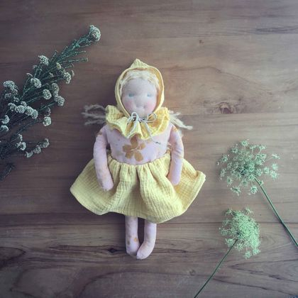 Naturally Dyed Waldorf Inspired Doll 'Meadow'