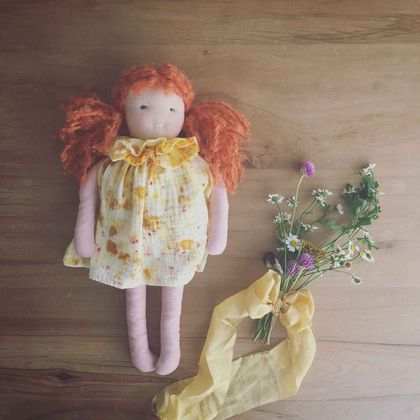 Naturally Dyed Waldorf Inspired Doll 'Madeline'