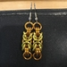 Chainmail earrings: Sunshine
