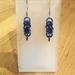 Chainmail earrings: Indigo blue