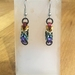 Chainmail earrings: Rainbow (small)