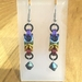 Chainmail earrings: Rainbow with bead