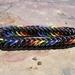 Chainmail bracelet: Rainbow (small-medium)