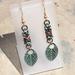 Chainmail earrings: Leaves