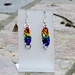 Chainmail earrings: Rainbow