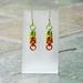Chainmail earrings: Citrus