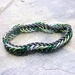 Chainmail bracelet: Greens