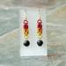 Chainmail earrings: Lava