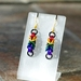 Chainmail earrings: Rainbow and black