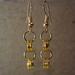 Chain earrings- Rosa