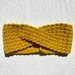 Yellow Crochet Headband