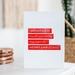 Hand-printed linocut Christmas Card