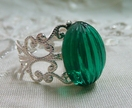 Silver Antique Filigree - The 'Emerald' Ring
