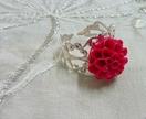 Silver Filigree - Hot Pink Chrysanthemum Ring