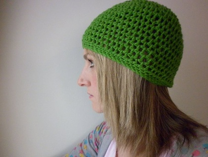 Leaf Green Crochet Beanie - Donated by Paisley Jade