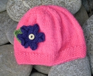Handknitted Flower Beanie - Donated by My2Monsters