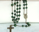 Greenstone and Brass Rosary - Donated by Onedaysgrace