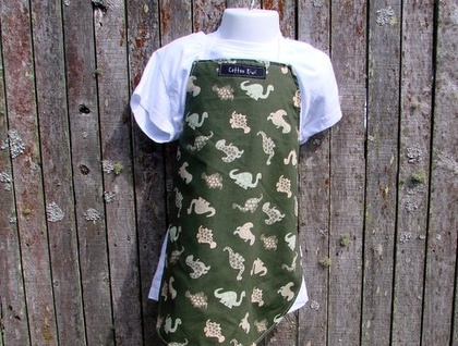 Boys' dinosaur apron - Sarah Bird - Cotton Kiwi