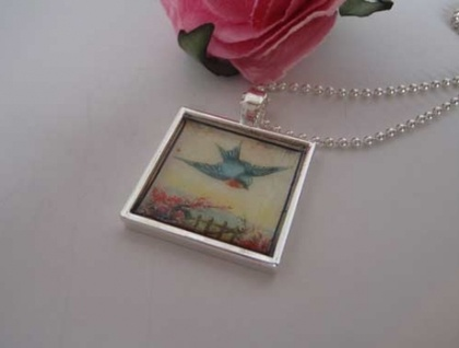 Flying Bird Pendant - Donated by Songbird Designs