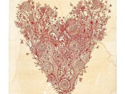 Love Art Print in Red - Donated by Sweet William